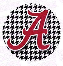 University of Alabama Houndstooth Edible Icing Sheet Cake Decor Topper - UA2