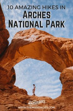 Explore Moab, Utah and experience this amazing national park! With over natural arches, its hard to be bored here. Were sharing 10 popular hikes in Arches National Park to choose from and why these deserve to be seen! Moab Utah, Utah Hikes, Florida Keys, Route 66, Burger Laden, Escalante National Monument, Arches National Park Hikes, Utah Vacation, Vacation Trips