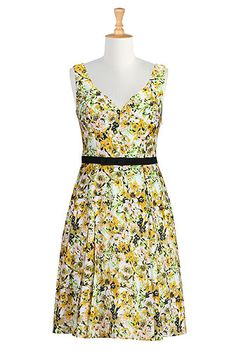Bow-tied belt floral dress - eshakti.com. They ask you your height so the dress is always the right length!
