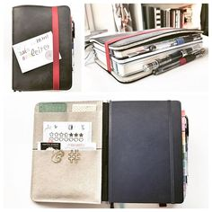 creativelyorganised My @roterfaden.de Taschenbegleiter all stuffed with my daily things! I got the 4 clip version so there was slightly more space so I've managed to fit my #leuchtturm1917 planner, a #rhodia exercise book for notes and a leuchtturm turquoise notebook which is my daily journal. I also have various stickers and stencils, washi tape and 3 pens : 2 #uniball signos in 0.38 and 0.5 and my #twsbi Eco with a 1.1 stub nib. So happy with this set up!