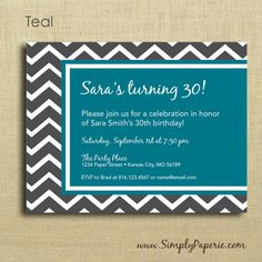Grey Chevron Party Invitations - product images  of