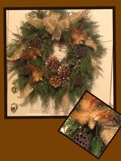Gold and Green sparkle Christmas Wreaths, Christmas Tree, Floral Design, Bee, Sparkle, Holiday Decor, Gold, Home Decor, Christmas Garlands