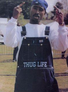 thug life overalls keeping it real haha