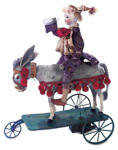 "When the Circus came to Town: 125 Delightful French Mechanical Toy ""The Party-goer and his Donkey""by Gustav Vichy"