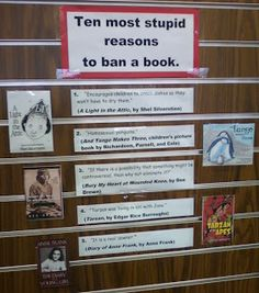 Smells Like Library: BANNED BOOKS WEEK 2011 : 10 stupid reasons to ban a book