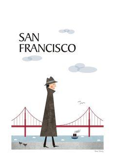 San Francisco, City print, Posters city, Travel, Size A3