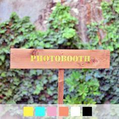 "Panneau en bois ""PHOTOBOOTH"" pour mariage, wedding sign wood ""PHOTOBOOTH"""
