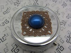 Pill Case Box Container Blue