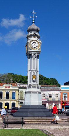 praça do relógio belém do pará brasil