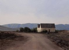 Calitzdorp-Farm-Shed Farm Shed, South African Artists, Art Projects, Project Ideas, Secret Places, Artist At Work, Beautiful Landscapes, Landscape Paintings, Landscape Photography