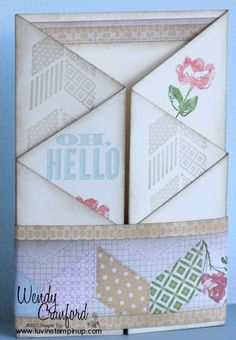 Luvin Stampin Up: Luvin Life Friday - Scrapbooking Ideas & Zig Zag Card Fun Fold Cards, Folded Cards, Diy Cards, Craft Cards, Card Making Tutorials, Making Ideas, Free Tutorials, Scrapbook Cards, Scrapbooking Ideas