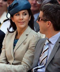Princess Mary (Mary Elizabeth Donaldson) (1972-living2013) Australia giving husband Crown Prince Frederik (Frederik André Henrik Christian) (1968-living2013) Denmark, a look.