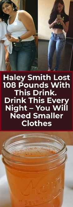 Haley Smith Lost 108 Pounds With This Drink. Drink This Every Night-You Will Need Smaller Clothes Haley Smith Lost 108 Pounds With This Drink. Drink This Every Night-You Will Need Smaller Clothes - Vinegar Detox Drink, Apple Cider Vinegar Detox, Diet Drinks, Healthy Drinks, Healthy Food, Healthy Recipes, Healthy Weight, Vegan Food, Healthy Meals