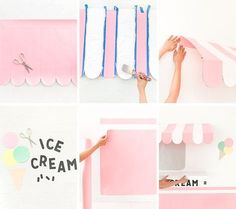 🌟Tante S!fr@ loves this📌🌟Ice Cream Truck Wall Ice Cream Stand, Ice Cream Cart, Ice Cream Theme, Diy Ice Cream, Ice Cream Parlor, Ice Cream Party Decor, Walls Ice Cream, Ice Cream Decorations, Cream Room