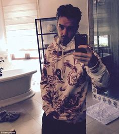 Brooding:Liam appears to be a fan of his new grungy style, as he went on to share a number of edgy selfies to his Instagram page over the last week