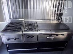 Campana con filtros y extractores. Plancha, parrilla, hornillas, Refrigerador y aire acondicionado.