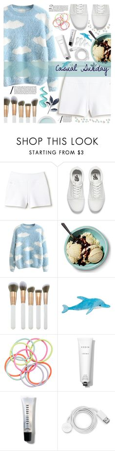 """""""Casual Sunday"""" by seashellvibes ❤ liked on Polyvore featuring Lacoste, Vans, Spectrum, H&M, Bare Escentuals, Rodin, Bobbi Brown Cosmetics and FOSSIL"""