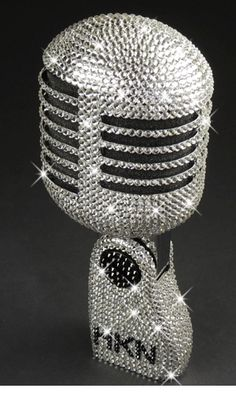 Musical Instruments & Gear Collection Here Njs Silver Crystal Bling Dazzling Effect Karaoke Party Home Microphone Mic Beautiful And Charming