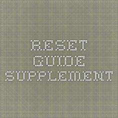 Reset Guide Supplement