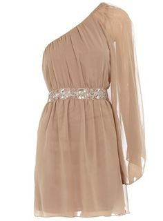 OOH what a gorgeous Mocha chiffon one sleeve dress!!!!