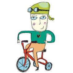 dean stanton art. ilovestanton.com . calgary artists. boy on a bike