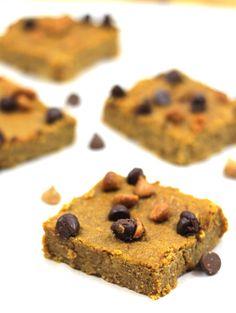 pumpkin bars that are grain-free - with garbanzo beans!