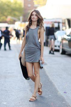 NYFW streetstyle -tank dress