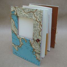 this is a fantastic idea for a scrapbook cover look for an overseas trip