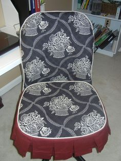 Desk chair slipcover
