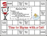 Free Cat in the Hat Rhyming Words Game from First Grade a la Carte