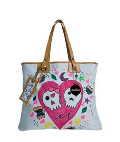 Donatella Versace joined forces with the Whitney Museum's Education Department to form the children's charity Art Unites. The children drew the design on this tote.
