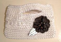 White Crochet Clutch by CBDesignsPR on Etsy, $55.00