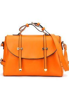 2012 Spring Fashion Double Slot Through Strap Shoulder Bag Leather  Briefcase 058c3c76685f4