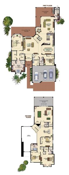 This plan has a really open look about it, considering the amount of windows and the large spaces in each room