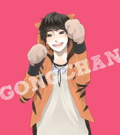 """aw what a cute fanart of Gongchan from the original music video of """"Beautiful Target"""" :D I really really thought this jacket was cute! ^w^"""