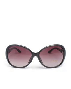 Oversized Metal Detail Round Sunglasses