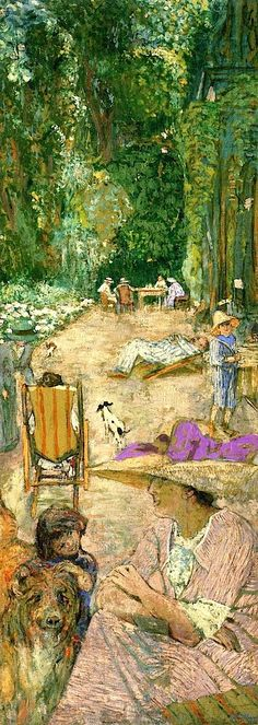 Édouard Vuillard - The Pavilions at Cricqueboeuf, in Front of the House, 1911