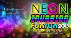 Get ready for Neon Invasion Fun Run at QC Memorial Circle! Glow Run, Quezon City, Get Ready, Neon, Doll, Memories, Running, Life, Memoirs
