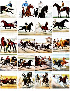 "Vintage #HorseRaces #HorseJockey art images illustrations #clipart clip art #digitalArtDownload #Equestrian COLLAGE SHEET printable graphics 2 inch square images you print them out on an 8.5"" X 11"" paper PRICE $2.50"