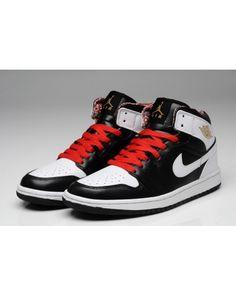 a916c40c4ba Nike Air Jordan 1 Mid Retro Mens Shoes Black   White   Metallic Gold All  kinds