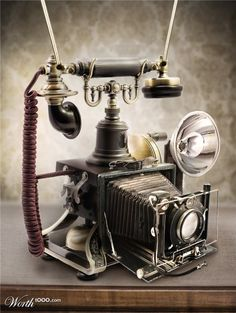 first telephone with camera.  Haha...funny.  But wouldn't this be cool to have anyway?  (<:""