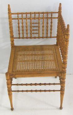 Merveilleux Faux Bamboo Victorian Corner Chair