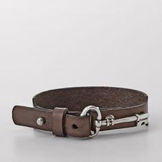 FOSSIL® Jewelry Bracelets:Women Key Wrist Wrap - Grey JA5711