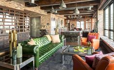 Cool industrial chic style loft designs for living room 29