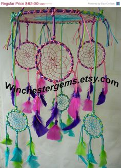 December sale Dream Catcher Mobile by Winchestergems on Etsy