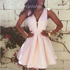 Sexy V Neck Short Pink Homecoming Dress Modest Graduation Dresses Mini Cocktail Dress Party Evening Gowns Vestidos de 15 cortos