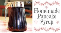HOMEMADE PANCAKE SYRUP  Ingredients:  1 cup water 1 cup regular sugar 1 cup brown sugar (click here to learn how to make your own brown suga...
