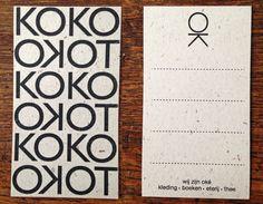Label voor aan de producten van Kokotoko