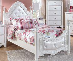 Сприяння Розмір Меблі для спальні Набори: Модні дівчата Діти Дизайн Спальня Використання Білий Каркас ліжка розроблений з…