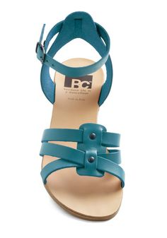 Simple Turquoise Sandals for Summer Shoes Flats Sandals, Cute Sandals, Ankle Strap Sandals, Cute Shoes, Leather Sandals, Sneakers Fashion, Fashion Shoes, Turquoise Sandals, Stylish Sandals